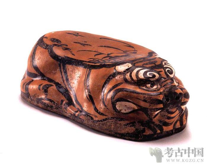金代 · 磁州窑卧虎瓷枕(宁夏博物馆)